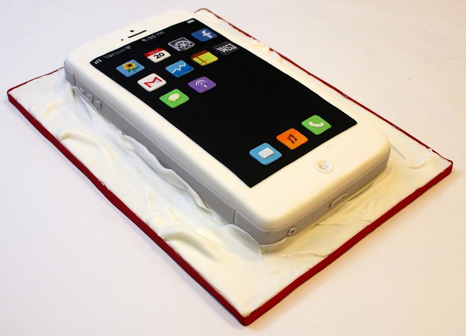 iPhone Cake iPhone cake made for my dear hubby Happy Birt Flickr