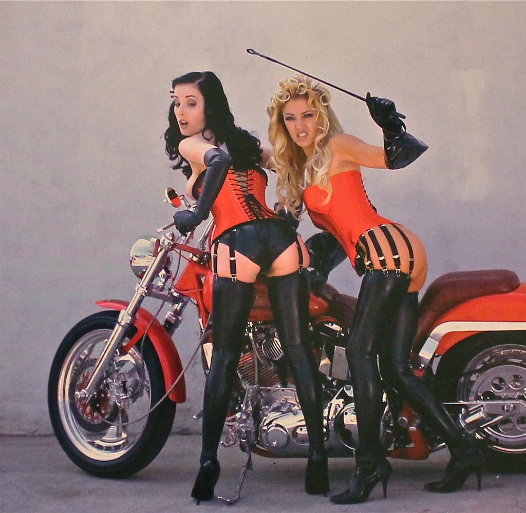 Latex Girls  Latex Girls And A Harley  Gustav Berman -8355