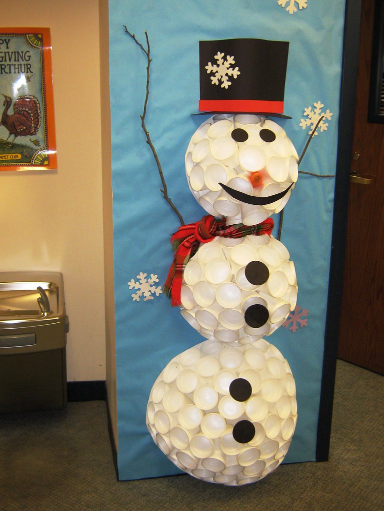 Styrofoam Cup Snowman Grayslake Library Flickr
