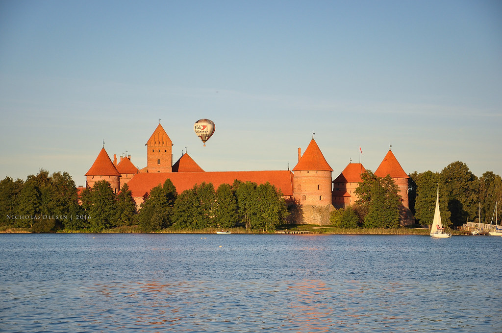 Hot Air Balloon over Trakai