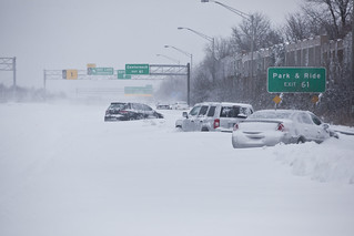 Vehicles abandoned along the Long Island Expressway during major northeast winter storm | by Anthony Quintano