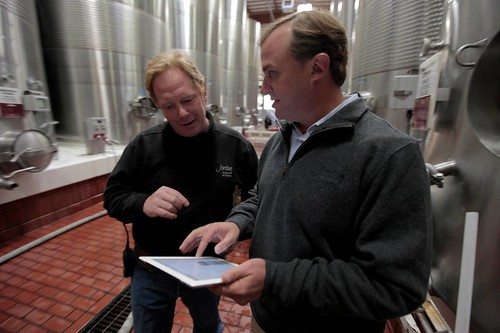 Cellarmaster Patrick Fallon and CEO John Jordan of Jordan Winery | by jordanwinery.com