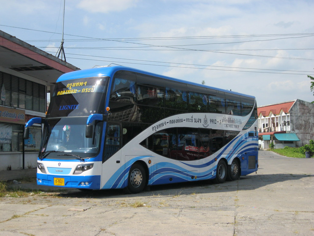 Scania Vip Bus Lignite Tours 15 5521 Krabi Bus Stn