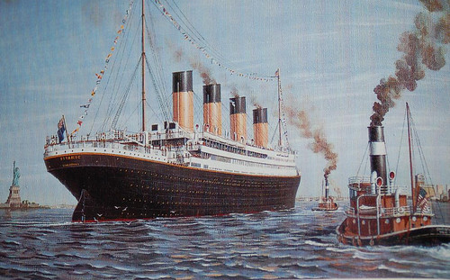 Rms Titanic Arrives New York April 17 1912 Mike Choi