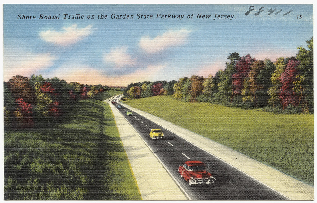 Shore Bound Traffic On The Garden State Parkway Of New Jer Flickr