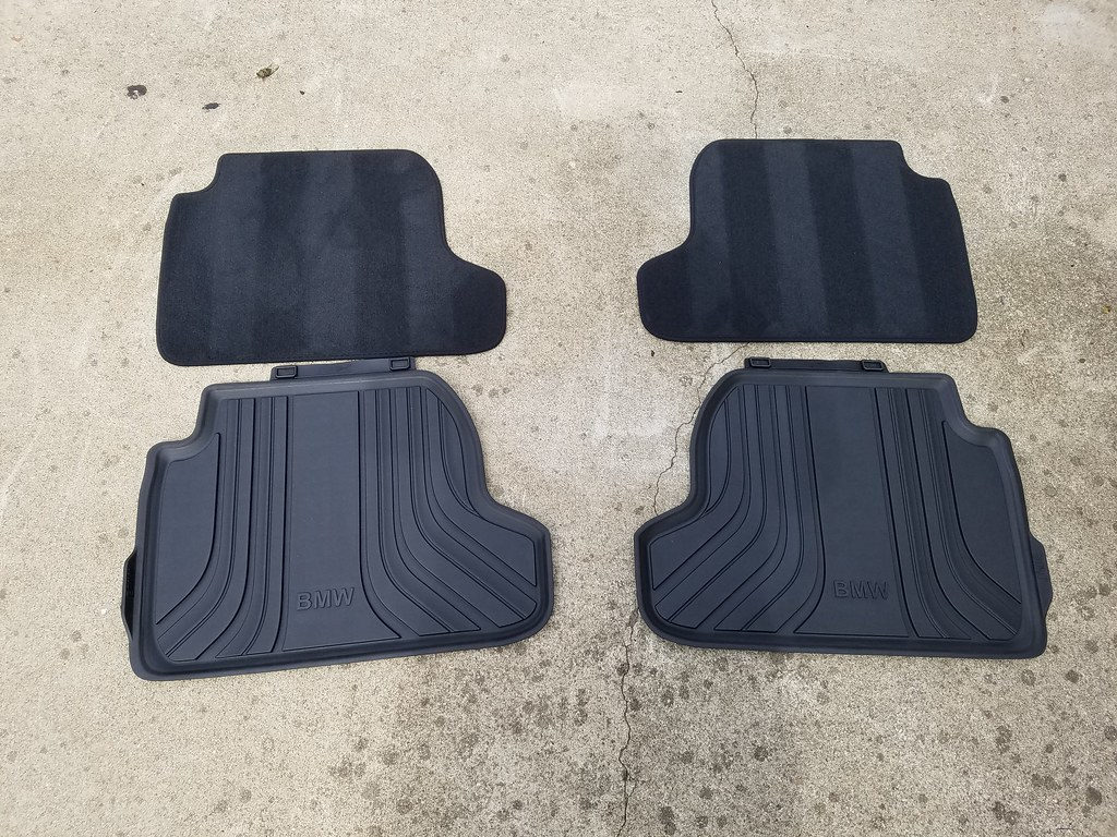 Bmw floor mats z4 - The Front Mats Are Held In Place By Replaceable Velcro Discs The Discs Are Already In The Car For The Carpeted Mats But Bmw Gives You A New