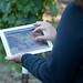 iPad in the vineyards at Jordan Winery