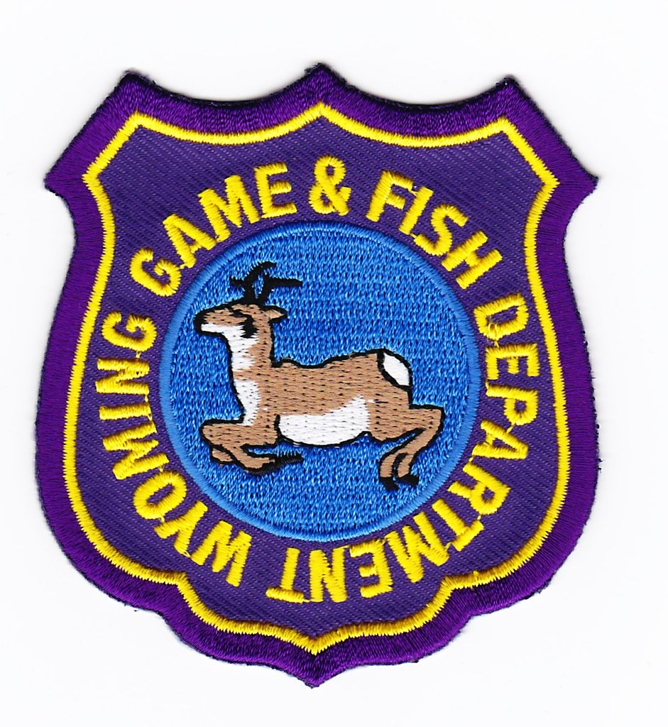 Wy wyoming game and fish game warden patch for for Wy game and fish