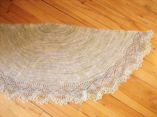 Finished & blocked shawl | by bunnieprops