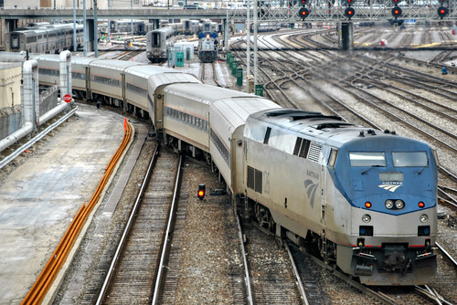 Amtrak Chicago When Arriving From The South At Chicago