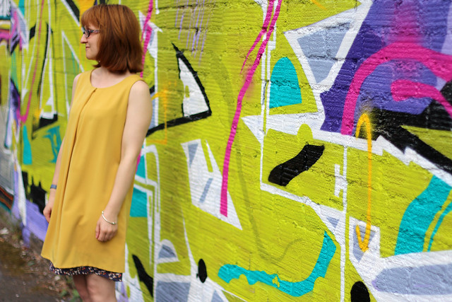Mustard Crepe Lou Lou Dress