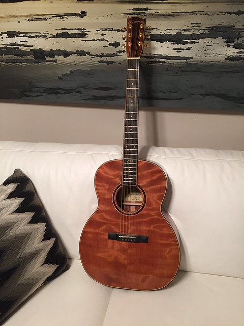 ngd from new zealand benavides om guitar flamed redwood figured koa the acoustic guitar. Black Bedroom Furniture Sets. Home Design Ideas