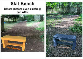 Painted Slat Bench Before and After | by rgdaniel