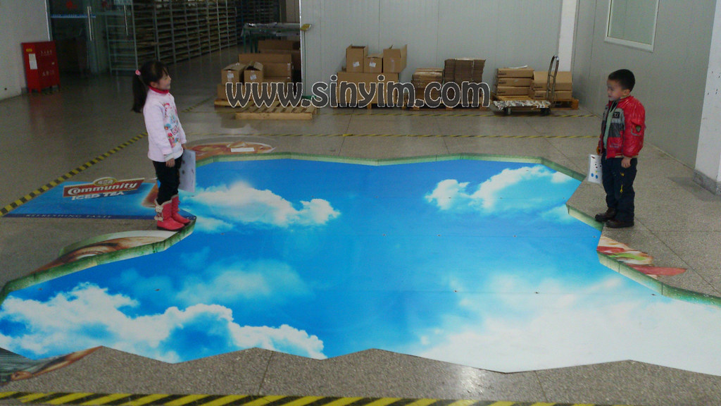 3d Floor Sticker For Milk Poster 3d Floor Sticker Design
