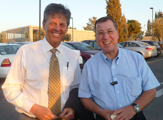 Mayor Ron Nachman of Ariel (r) and Bill Koenig (l) in Jerusalem, August 23, 2011 | by WilliamKoenig