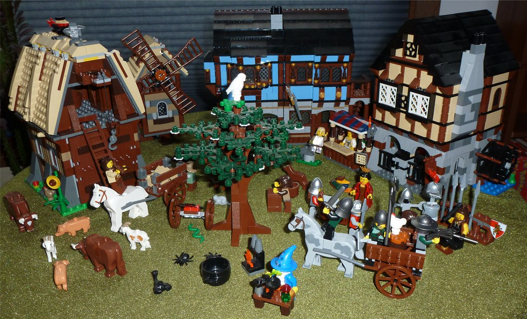 LEGO Castle Medieval Market Village | Everyone in our family… | Flickr