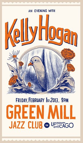Poster for Kelly Hogan at the Green Mill | by featherbed