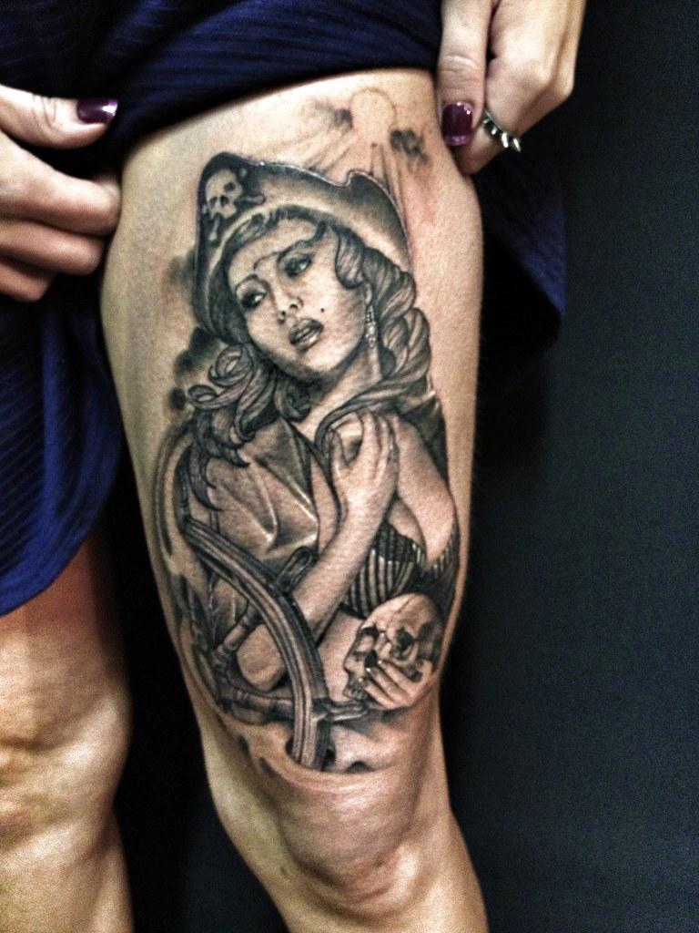 Sexy pirate tattoo