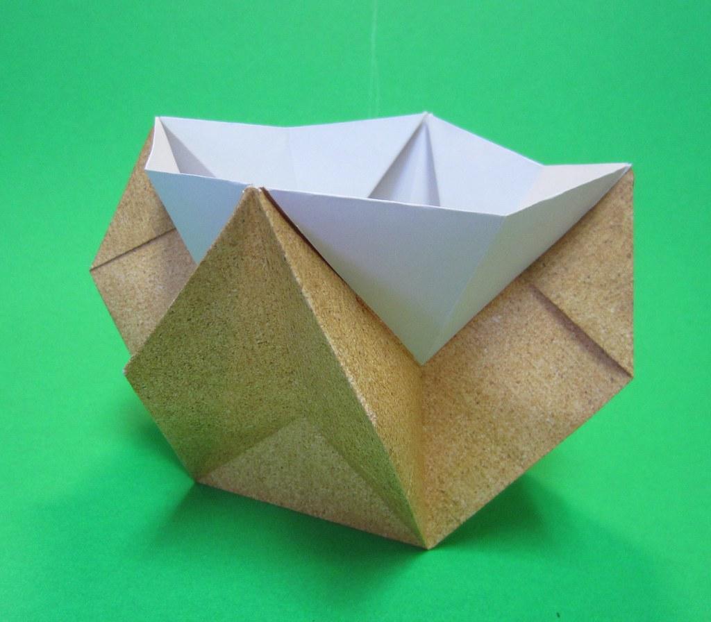 origami box bowl container pot vase david donahue origami visionz flickr. Black Bedroom Furniture Sets. Home Design Ideas