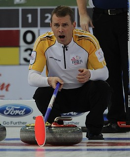 Edmonton Ab.Mar3,2013.Tim Hortons Brier.Manitoba skip Jeff Stoughton.CCA/michael burns photo | by seasonofchampions