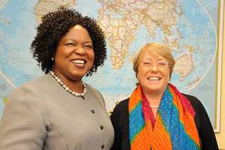 UN Women Executive Director Michelle Bachelet meets Special Raporteur on Trafficking | by UN Women Gallery