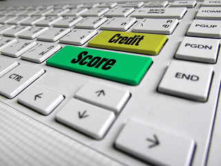 Credit Score Keyboard Button | by investmentzen
