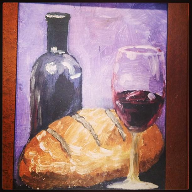 Painting Bread And Wine Art Wine Bread Insta Ig E