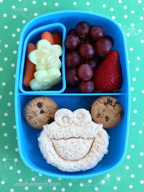 cookie monster preschool lunch in a sassy bento box flickr photo sharing. Black Bedroom Furniture Sets. Home Design Ideas