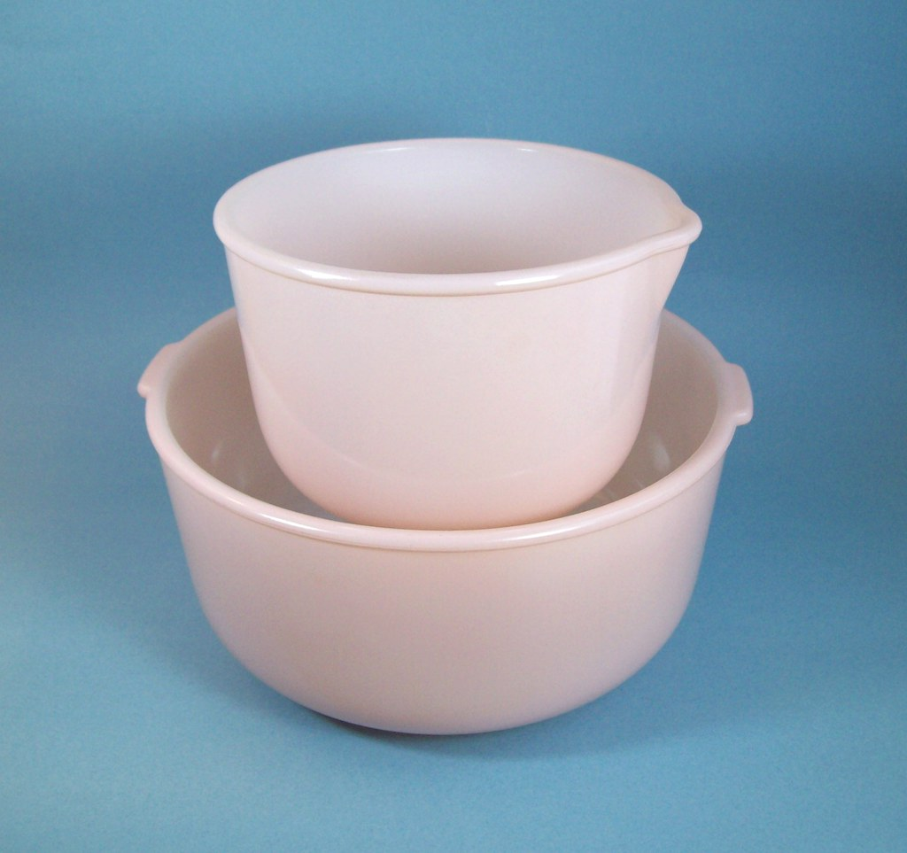Pink Glasbake Mixing Bowls for Sunbeam Mixer | Gone | Eight Mile ...