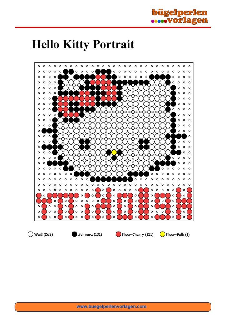 Bügelperlen Vorlagen Hello Kitty / Perler Bead Patterns He… | Flickr