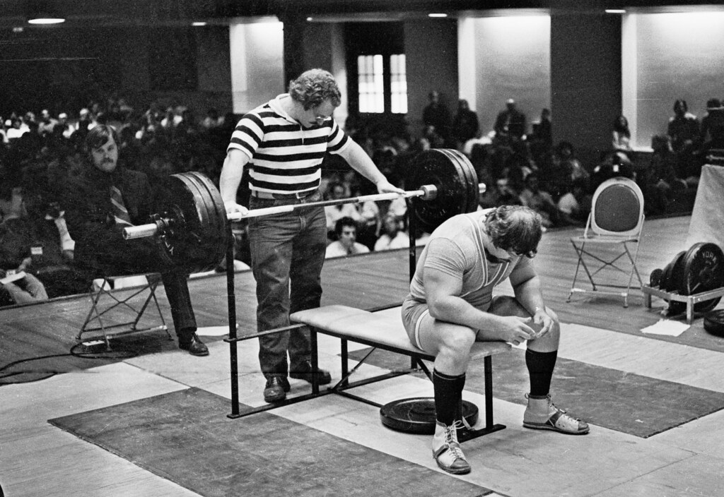 Larry Pacifico Prepares For Bench Press Bruce Klemens