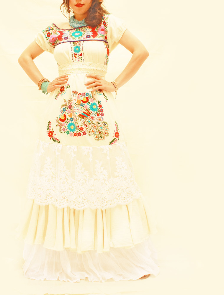 Pajaritos del Amor Mexican embroidered wedding dress | Flickr