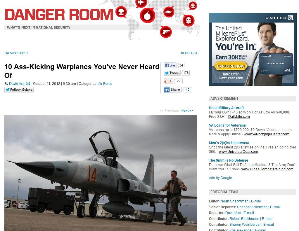 Web Site: Wired/Danger Room (F-5) | Christopher Ebdon | Flickr