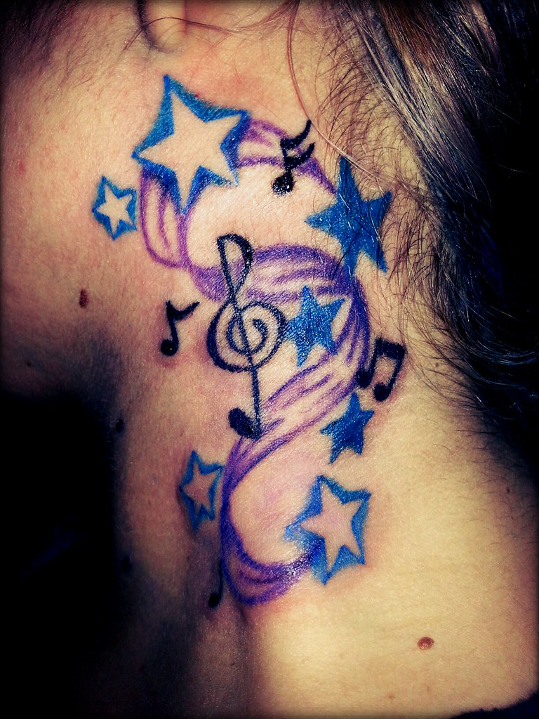 b Music Note Tattoo Music Notes Tattoo by