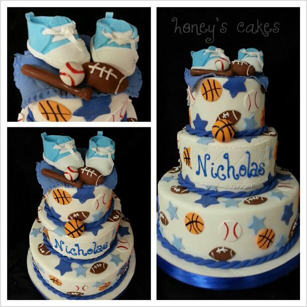All star baby shower cake honeyscakes babyshower cake Flickr