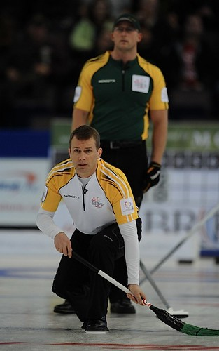 Edmonton Ab.Mar10,2013.Tim Hortons Brier.Manitoba skip Jeff Stoughton.CCA/michael burns photo | by seasonofchampions