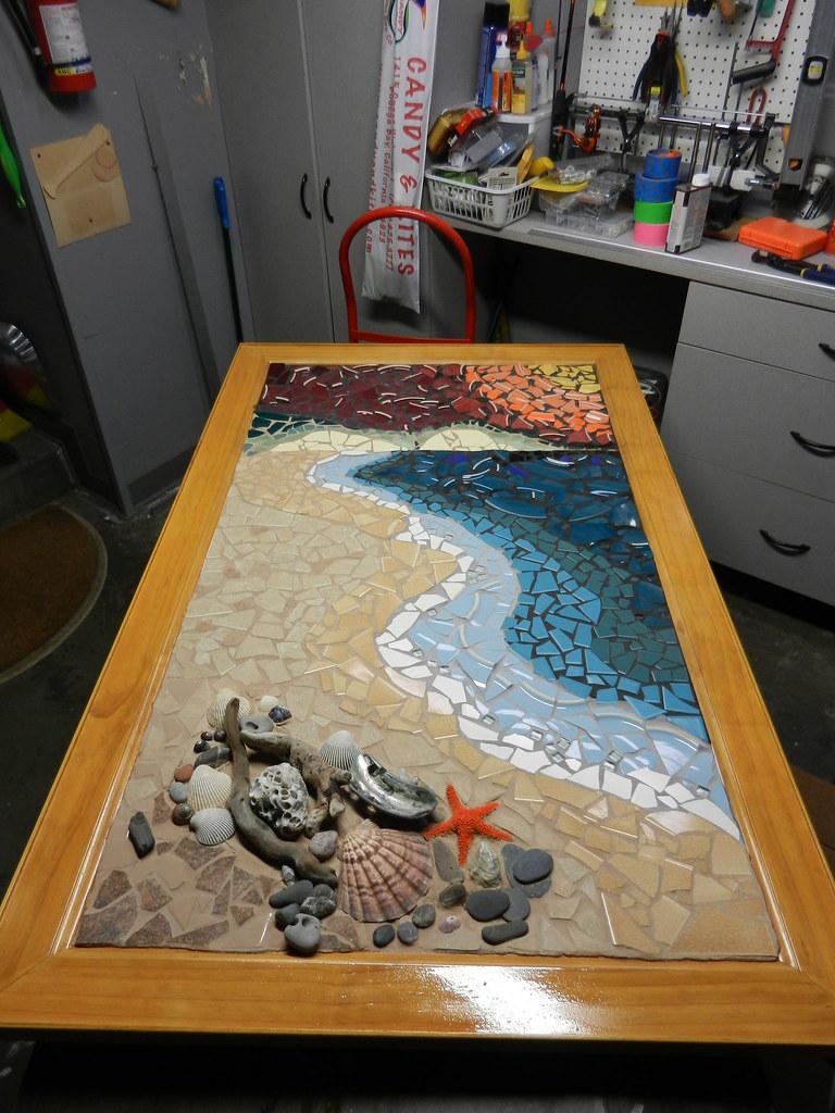 Wip Drake Beach Shoreline Mosaic Mixed Media Mos Flickr