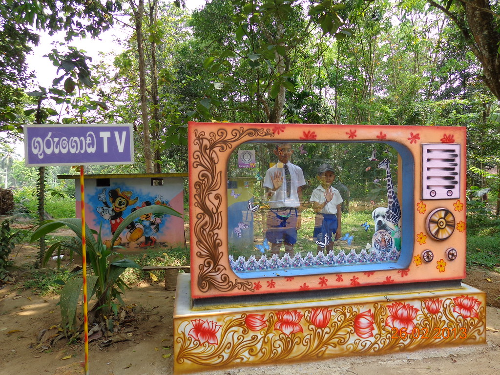 Two boys are on television in a math park in Sri Lanka | Flickr