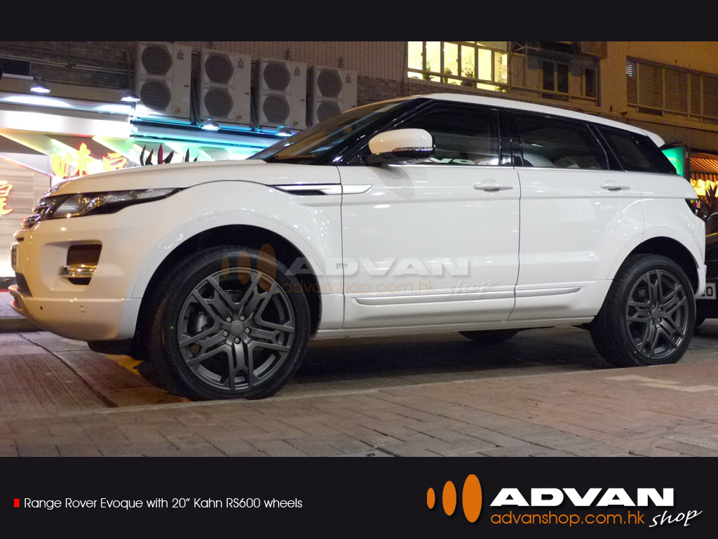 range rover evoque with 20 kahn rs600 wheels advan shop. Black Bedroom Furniture Sets. Home Design Ideas
