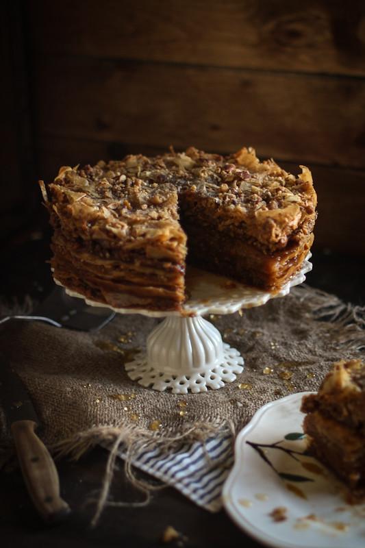Baklava Cake | www.adventures-in-cooking.com/2013/03 ...