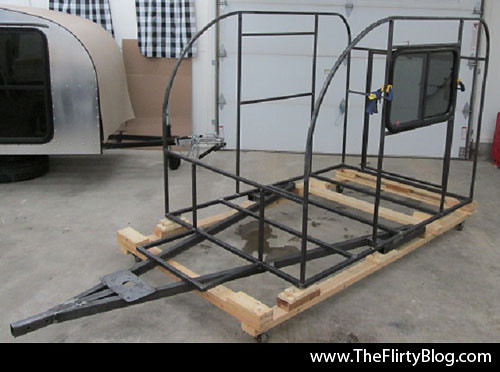 Custom Teardrop Trailer Steel Frame Walls Stacie Tamaki