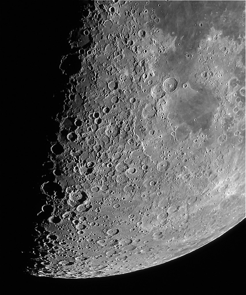 17 02 13 first quarter moon close up lunar x region flickr - Moon close up ...