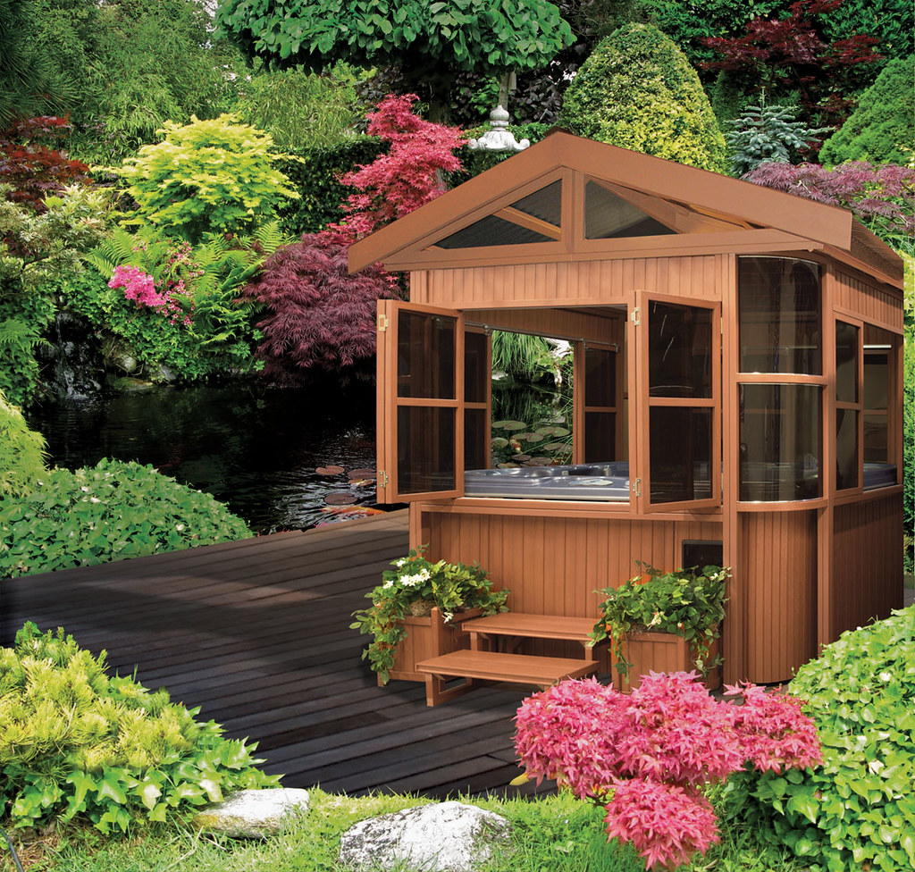 Cal designs gazebo 8x8 luxury cal spas photo gallery for Cal spa gazebo