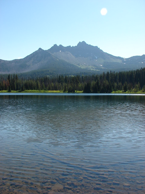 Three Fingered Jack from Santiam Lake