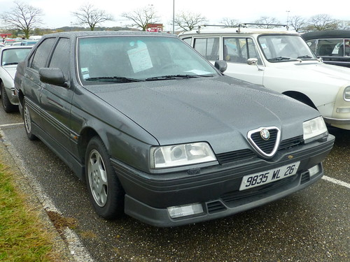 20121110 lyon rh ne epoqu 39 auto alfa romeo 164 v6 24 s flickr. Black Bedroom Furniture Sets. Home Design Ideas