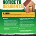 Notice to residents - shed break