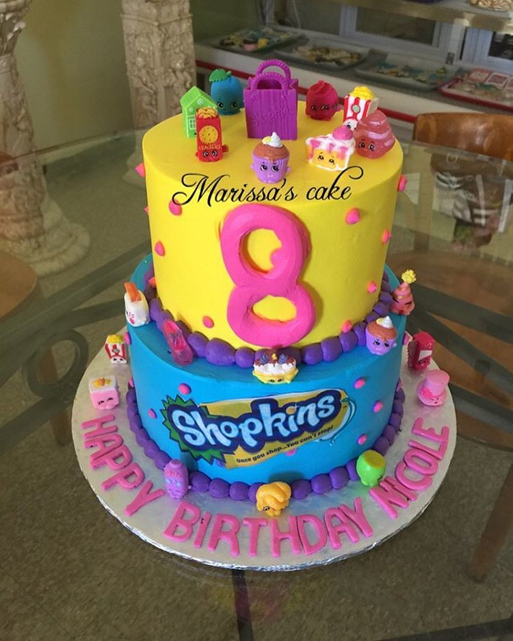 Shopkins Birthday Cake Photocake Toys Shopkinscake Cakedesigner