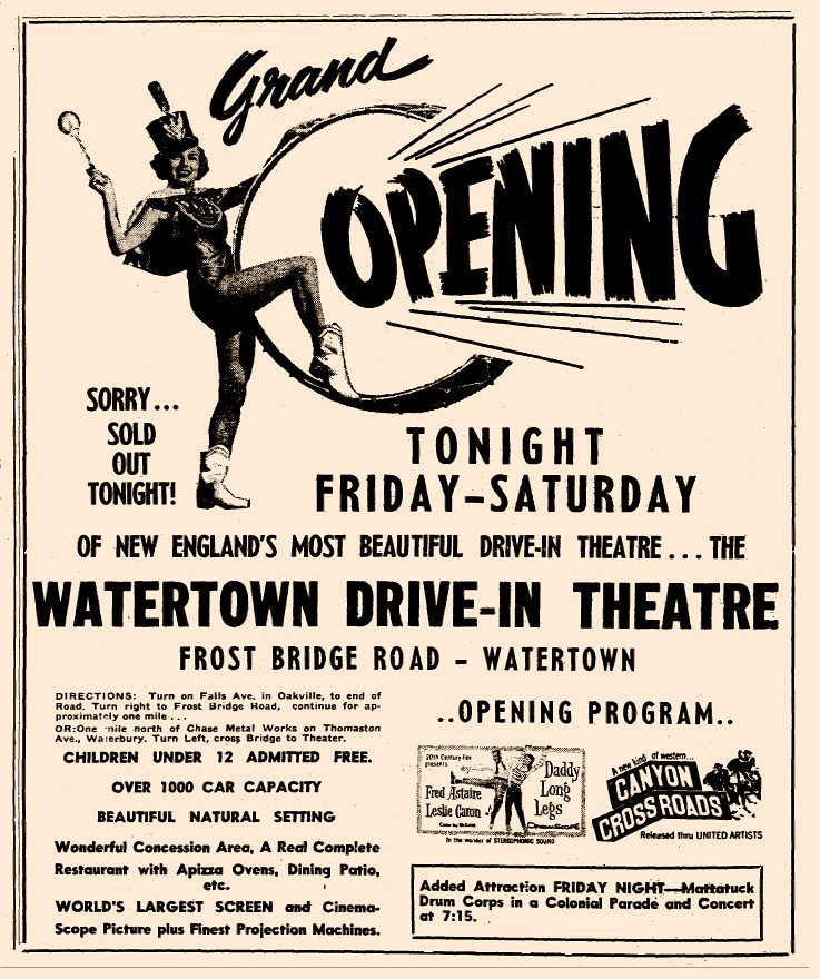 Watertown Drive-In Theater, Watertown, CT. Grand Opening A