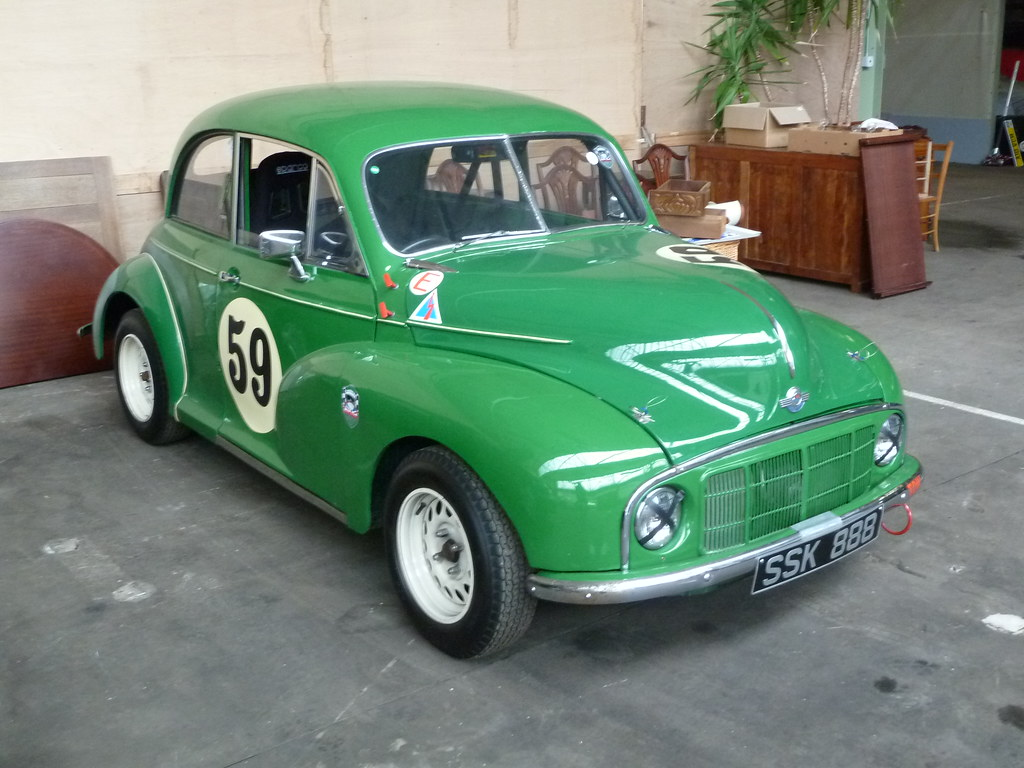 1949 morris minor low light   rally car homer simpson flickr