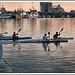 Port de Castelló .....canoes  a la posta de sol .